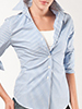 Gigi Blue and White Stripe Shirt by Basiques